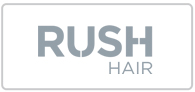 25% off Rush Hair Logo